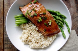 Ginger Soy Poached Salmon